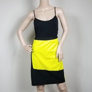 WORTHINGTON COLOR BLOCK PENCIL SKIRT NEON SIZE 10